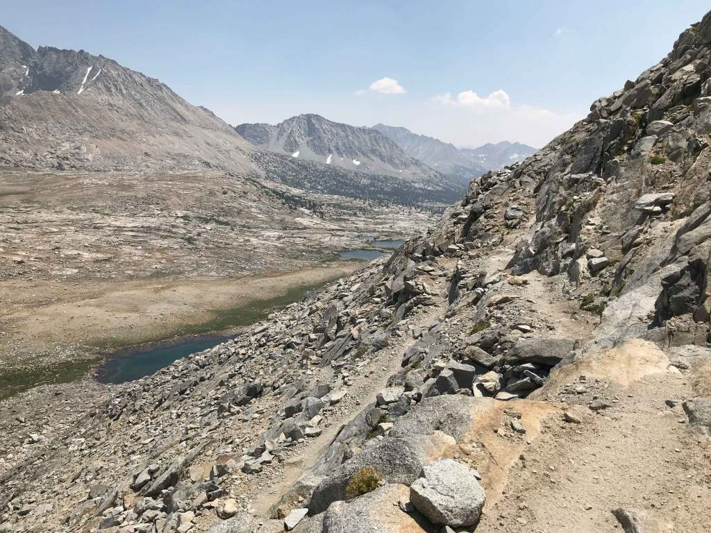 This is the view on the south side of Mather Pass. We still have a little way to go before reaching the top.