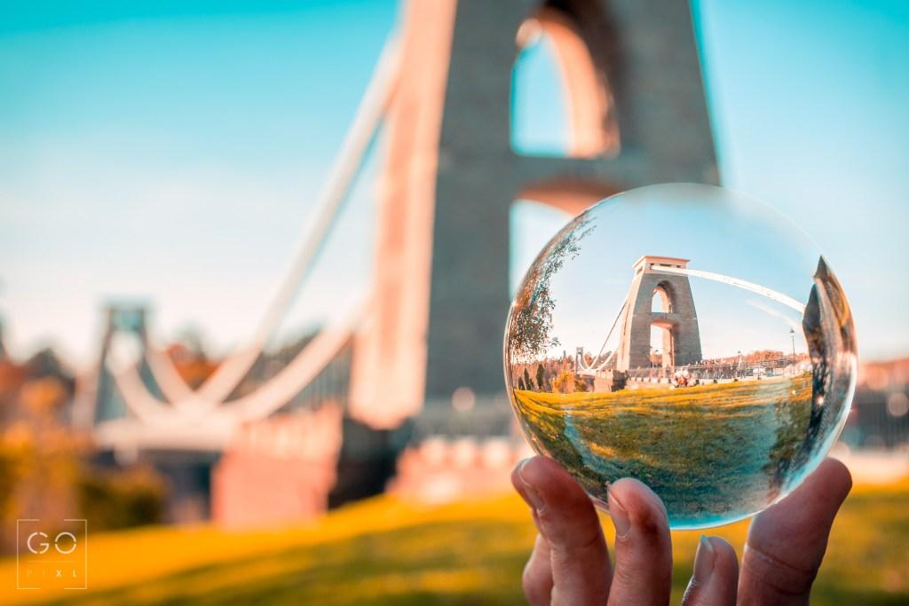 The Clifton Suspension Bridge through the ball