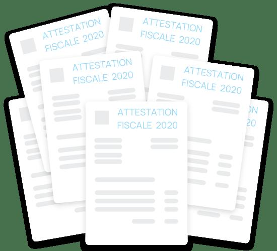 Édition des certicats fiscaux
