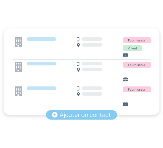 Gestion des contacts fournisseurs et clients