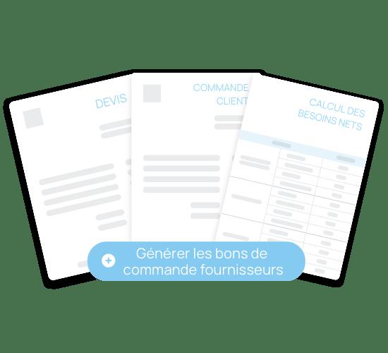 Génération automatique des bons de commandes fournisseurs