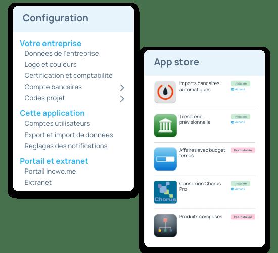 configuration logiciel et sélection des composants