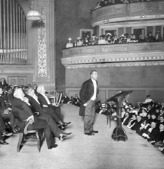 Booker T Washington speeks at Carnegie Hall