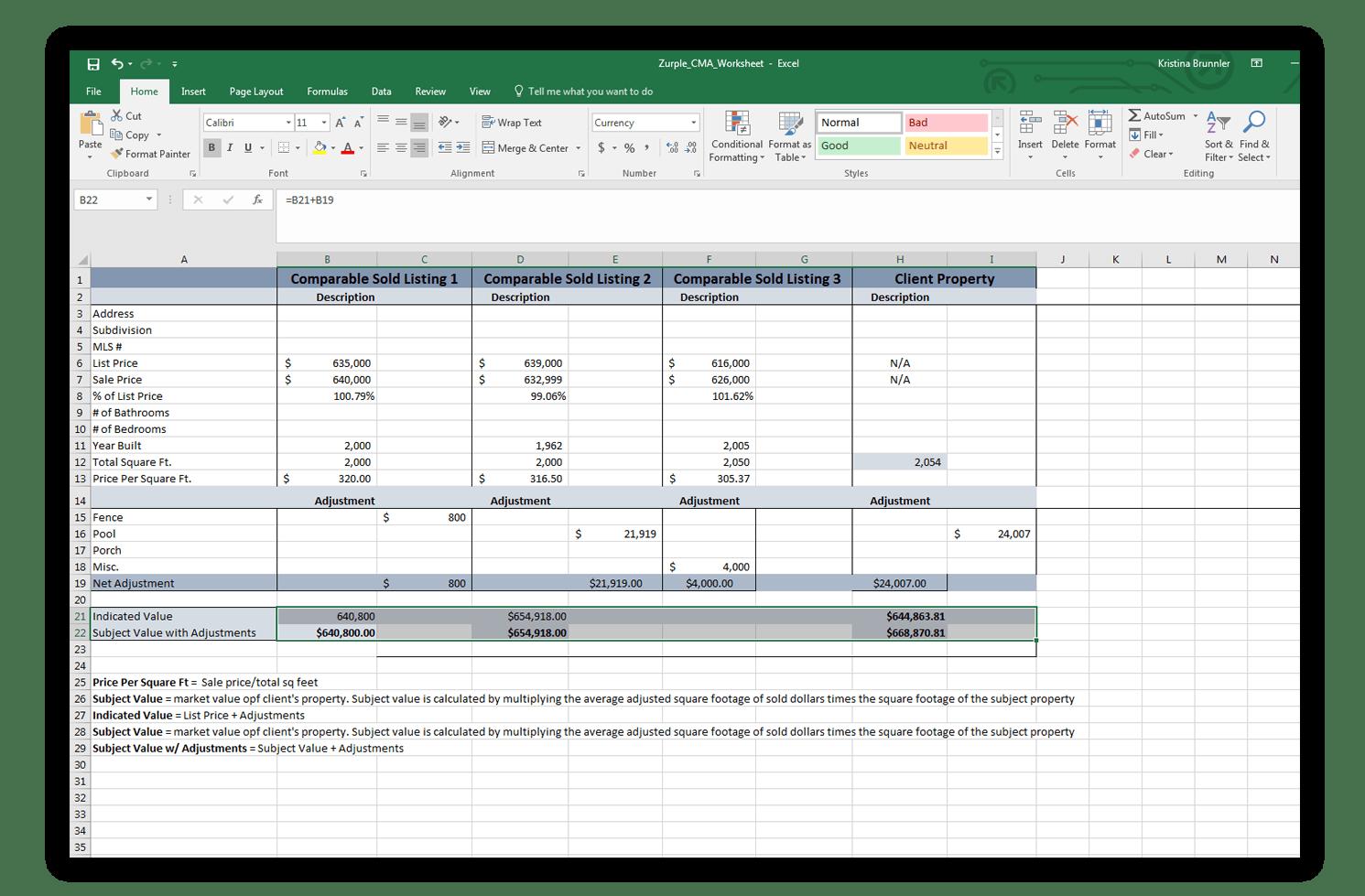 Cma Worksheet