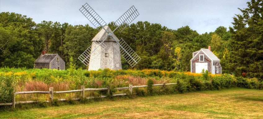 Higgins Farm Windmill in Drummer Boy Park in Brewster, Massachusetts
