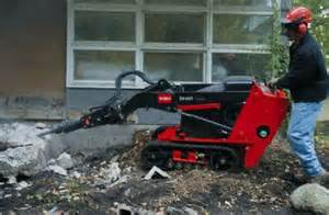 Compact Loader Breaker Attachment Rental at the Effingham Builders Supply Rental Center