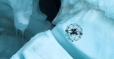 drón a jégbarlangban