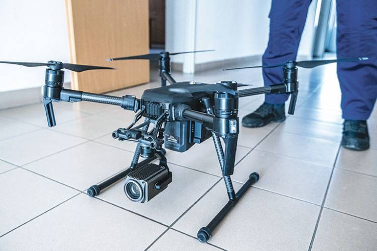 DJI M200 V2 rendőrségi drón