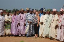 The king of Osogbo and his court