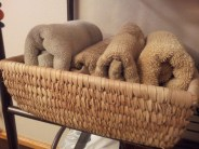 Nigerian square baskets for towels
