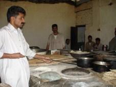 making chapati in Murree