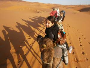 Students in Sahara Desert.