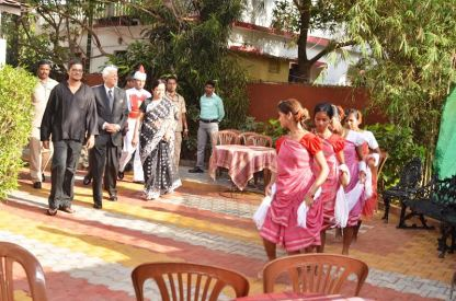 Shri Bharat Wanchoo at the inaugration of the Dom Martin Gallery