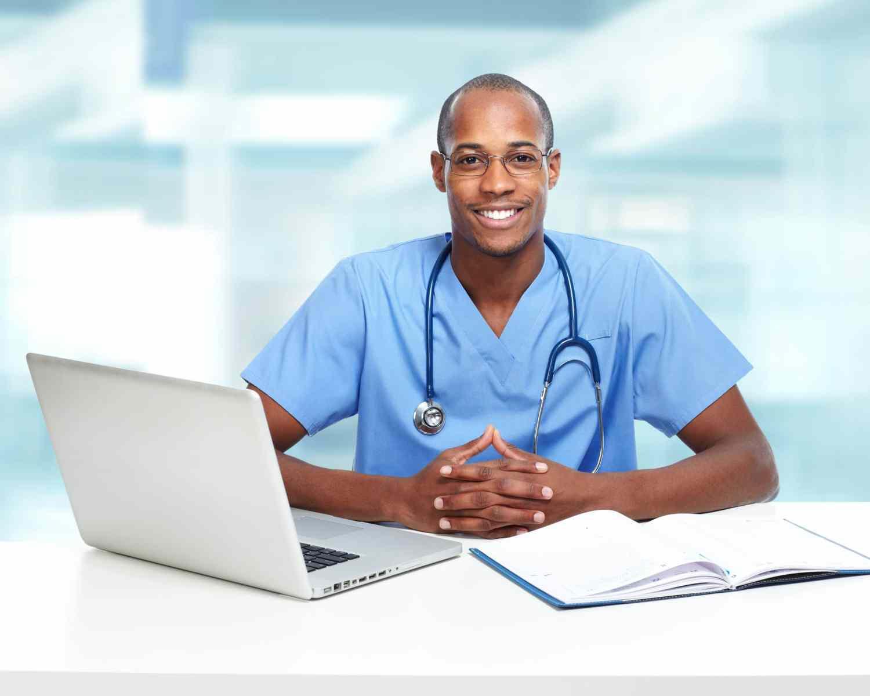 34689294 – african-american black doctor man.