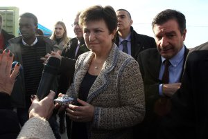 Kristalina Georgieva of the European Commission, an author of the report, in Athens last month. Credit Simela Pantzartzi/European Pressphoto Agency