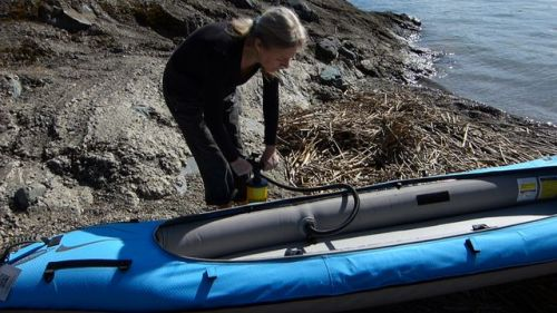 Make sure the kayak is not fully inflated.