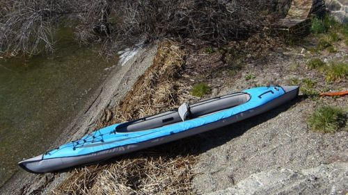 Convertible DS set up for solo paddling