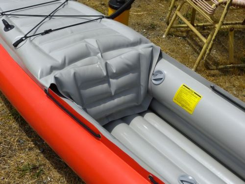 Integrated inflatable seat back.