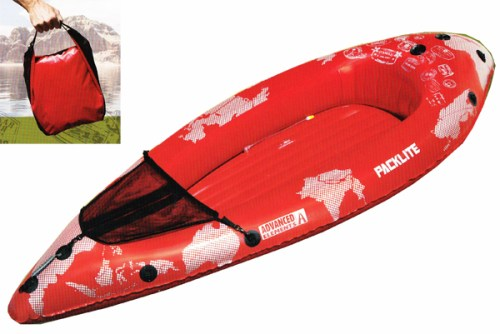 The Advanced Elements PackLite inflatable kayak weighs only 4 lbs!
