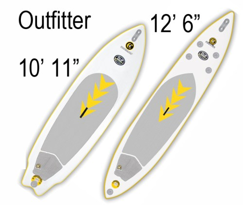 """C4 Waterman 10'11"""" and 12' 6"""" OutFitter Inflatable SUP"""