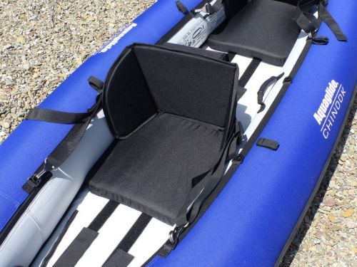 Seats have infinite adjustment positions on velcro strips