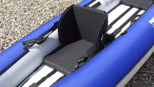 Padded whitewater seat.