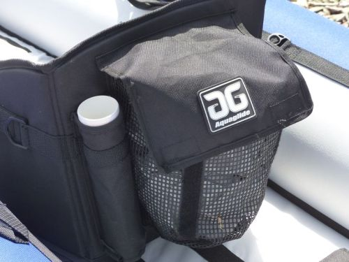 Whitewater seats feature fishing rod holders and mesh pocket.