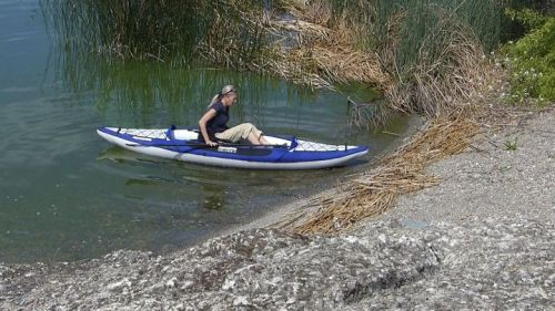 Columbia One HB inflatable kayak is easy to get into.