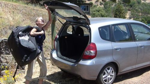 The Columbia Tandem fits in the trunk of a small car.