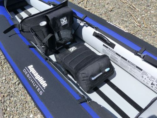 Neoprene knuckle guards with velcro paddle holders.