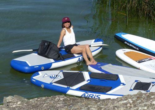 Gigi relaxing on her Airis Stubby 9.