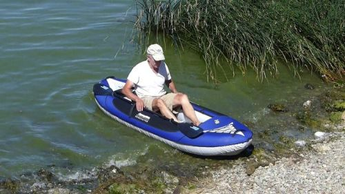 Roomy and open design as a single kayak.