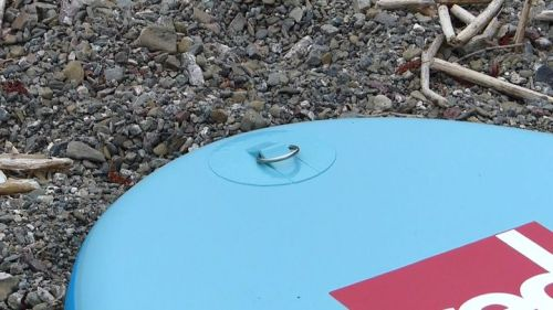 D-ring on underside of board