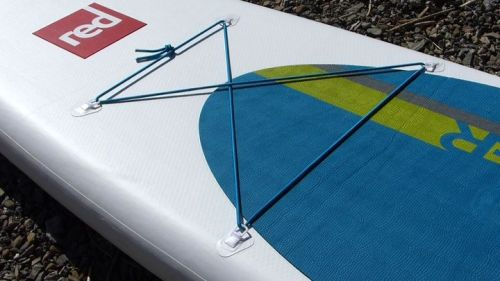 Front bungee deck lacing and d-rings