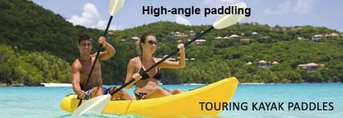 High-angle paddling