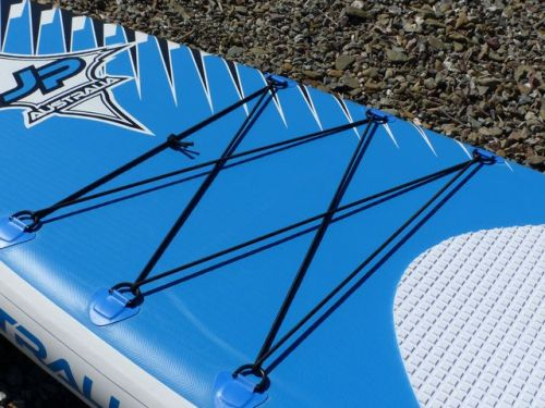 Bungee deck-lacing for gear