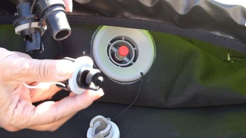 Included adaptor and Boston valve adaptor