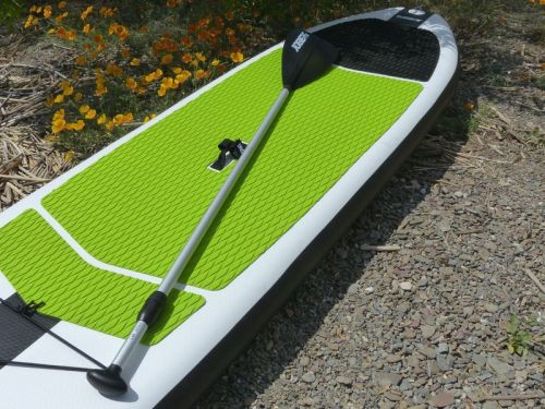 Jobe Aero 11-6 inflatable SUP on the water.