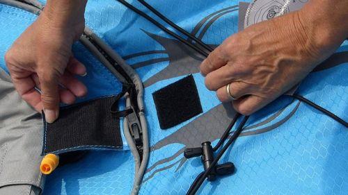 Velcro zipper cover