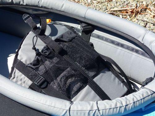 Mesh pocket on seat backk