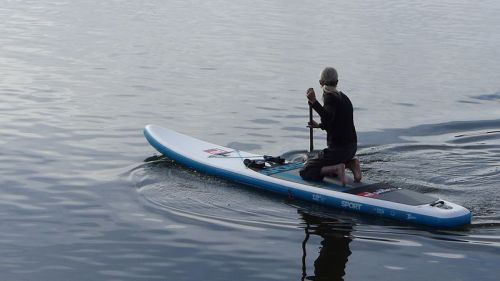 Red Paddle Co Sport 12-6 on the water.
