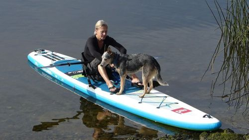 Paddling with Woodie on the Red Paddle Co Explorer 13-2