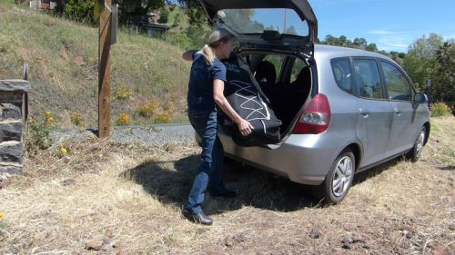 The Blackfoot easily fits in the trunk of a small car.