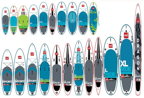 2017 Red Paddle Co SUP Lineup