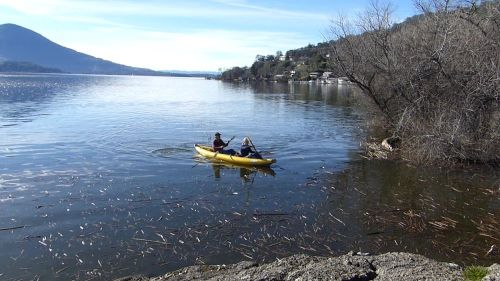 Aire Tributary Sawtooth kayak paddled tandem.