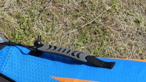 Molded rubber handle