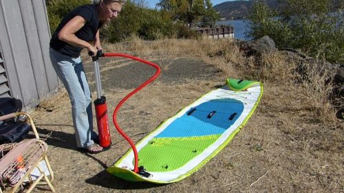 """Pumping up the Red Paddle Co Voyager 12'6"""""""