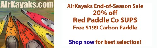 20% off Red Paddle Co at Airkayaks.com