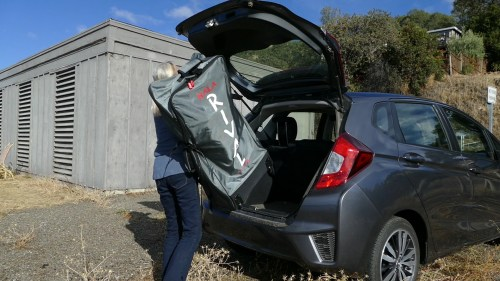 The Hala Gear Rival Nass easily fits in the trunk of a car.