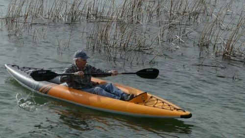 Aquaglide Deschutes 130 Inflatable kayak - on the water